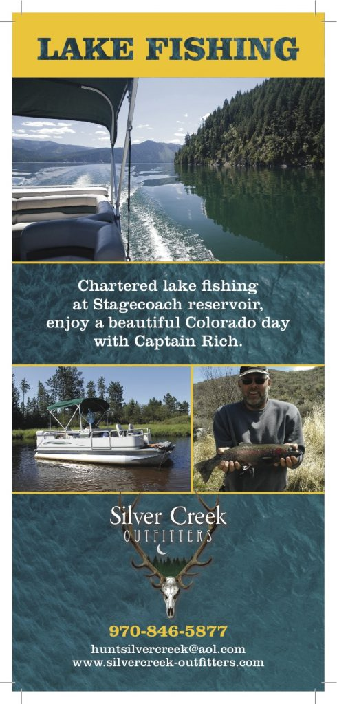 Stagecoach guided activities steamboat springs boat rentals for Can you get a fishing license at walmart